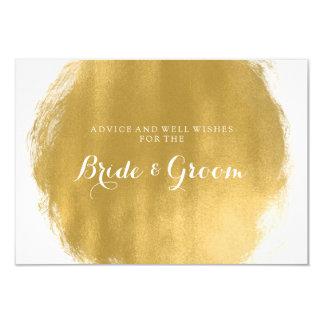 Wedding Advice Card Gold Paint Look 9 Cm X 13 Cm Invitation Card