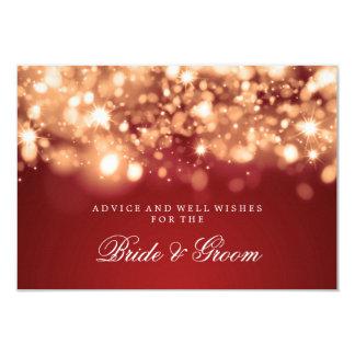 Wedding Advice Card Gold Sparkling Lights 9 Cm X 13 Cm Invitation Card