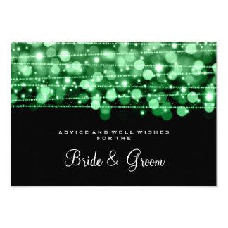 Wedding Advice Card Party Sparkles Green 9 Cm X 13 Cm Invitation Card
