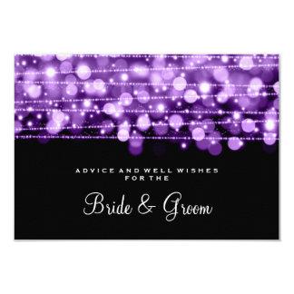 Wedding Advice Card Party Sparkles Purple 9 Cm X 13 Cm Invitation Card