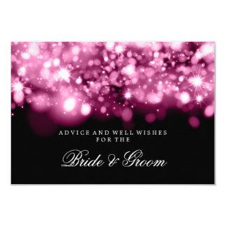 Wedding Advice Card Pink Sparkling Lights 9 Cm X 13 Cm Invitation Card