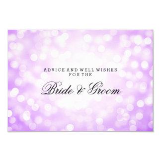Wedding Advice Card Purple Glitter Lights 9 Cm X 13 Cm Invitation Card