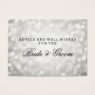 Wedding Advice Card Silver Glitter Lights