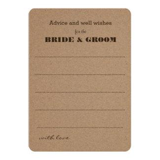 Wedding Advice    Rustic Kraft Paper 13 Cm X 18 Cm Invitation Card