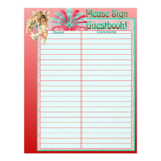 Wedding Album Guestbook Pages Personalized Flyer