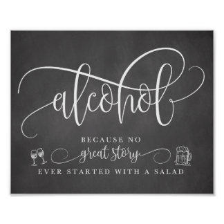 Wedding Alcohol Bar Sign