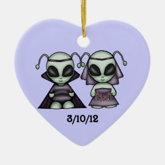 Wedding Alien Keepsake Ornament