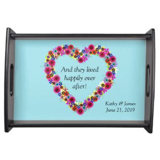 Wedding And They Lived Happily Ever After Custom Serving Tray