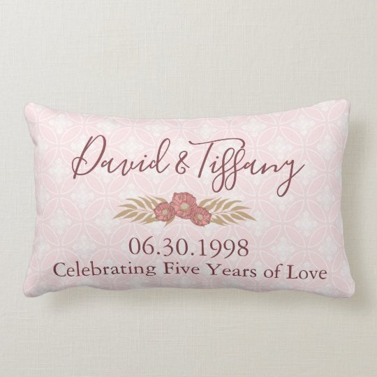 5 years of love cushion