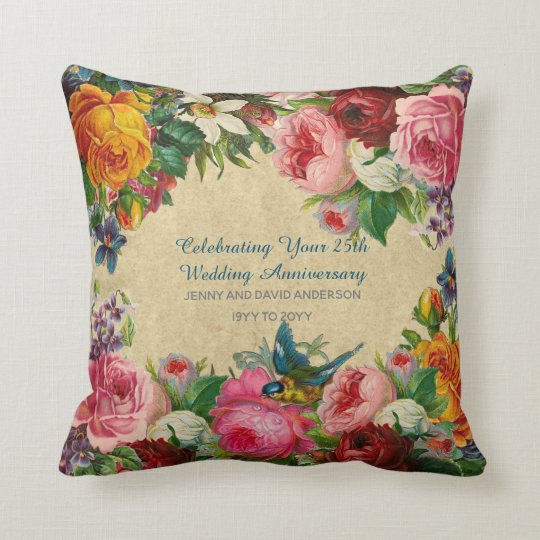 Vintage personalised cushion
