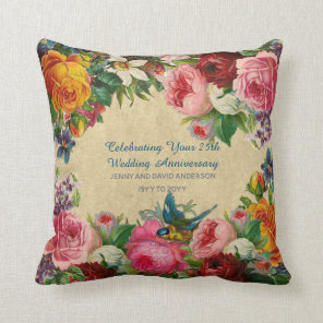 Wedding Anniversary ANY - Vintage Personalised Cushion