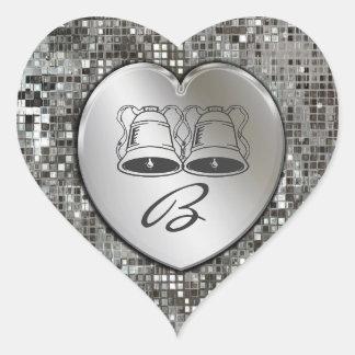Wedding & Anniversary Bells On Sequins Sticker