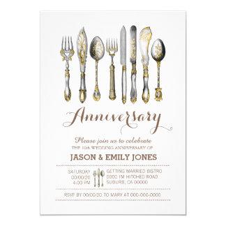 Wedding anniversary celebration dinner card
