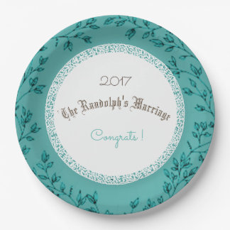 WEDDING-ANNIVERSARY-CLASSIC-CELEBRATION-TEMPLATE PAPER PLATE