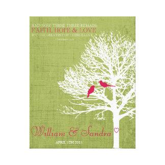 Wedding anniversary Faith Hope Love  tree print