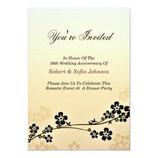 wedding anniversary invitation elegant and classic