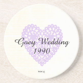 Wedding-Anniversary_Lavender-Lace-Heart_Black Font Coasters