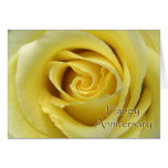 Wedding Anniversary, Macro Yellow Rose Photograph Greeting Card