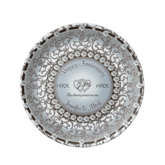 Wedding Anniversary Monogram Plate