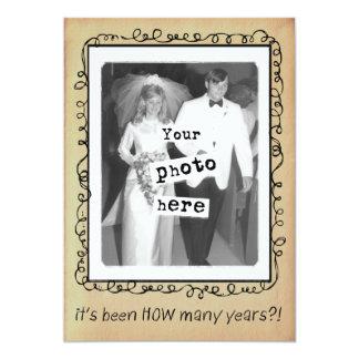Wedding Anniversary Party Custom 13 Cm X 18 Cm Invitation Card