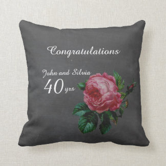 Wedding Anniversary Personalized chalkboard Cushion