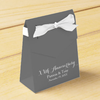 Wedding Anniversary Personalized - pick color Favour Boxes