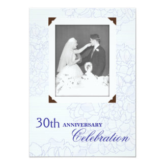 Wedding Anniversary Renewing Vows Photo Invitation