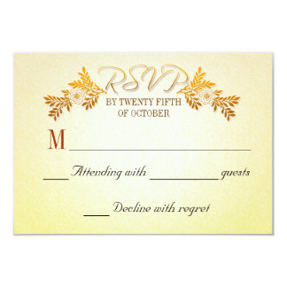 Wedding Anniversary RSVP cards 9 Cm X 13 Cm Invitation Card