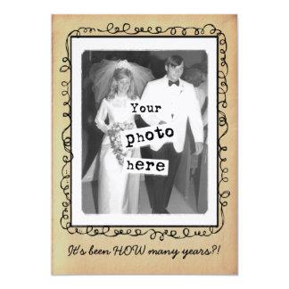 Wedding Anniversary Vintage Photo Template