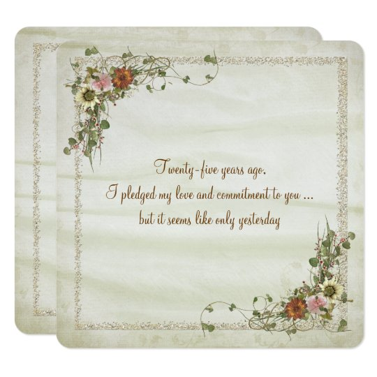 Wedding Anniversary Vow Renewal Card