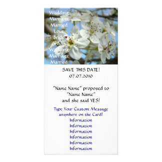 Wedding Announcement Save the Date cards Blossoms Custom Photo Card