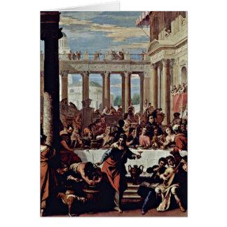 Wedding At Cana By Sebastiano Ricci Card