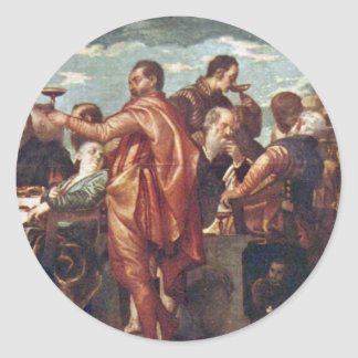 Wedding At Cana By Veronese Paolo Best Quality Stickers