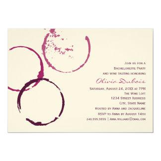 Wedding Bachelorette Party | Red Wine Theme 13 Cm X 18 Cm Invitation Card