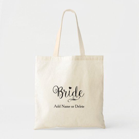 Wedding Bag for Bride Tote Budget Canvas Tote