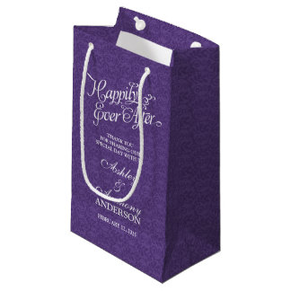Wedding Bag Happily Ever After Purple White Lace