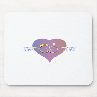 WEDDING BAND HEART DESIGN WEDDING PARTY MOUSE PADS