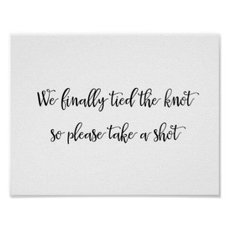 Wedding Bar Party sign | Calligraphy