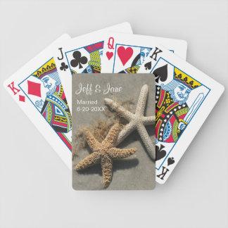 Wedding Beach Theme Playing Cards