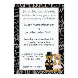 Wedding Bears Inivtations 13 Cm X 18 Cm Invitation Card