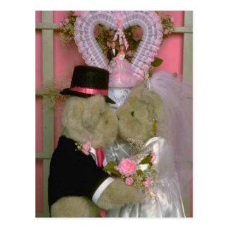 Wedding bears postcard