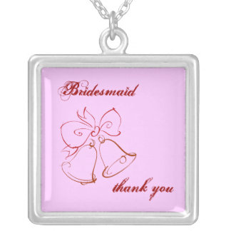 Wedding Belle Bridesmaid Thank You Personalized Necklace