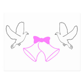 Wedding Bells and Doves Postcard