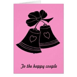 Wedding bells, fuschia greeting card