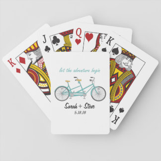 Wedding Bicycle Custom Playing Cards