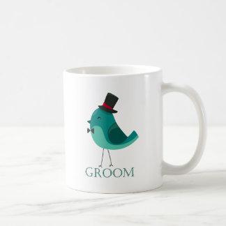 Wedding Bird Groom Basic White Mug