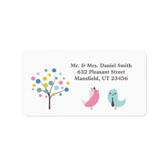 Wedding Birdies Shipping Address Label