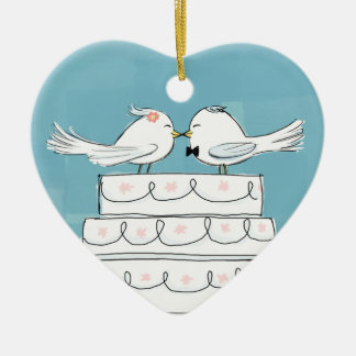 Wedding Birds Christmas Ornament