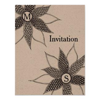 Wedding/Birthday Flower Invitation Card