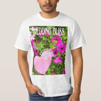 Wedding bliss, flowers of love shirts